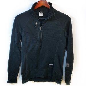 Patagonia half zip black stretch pullover